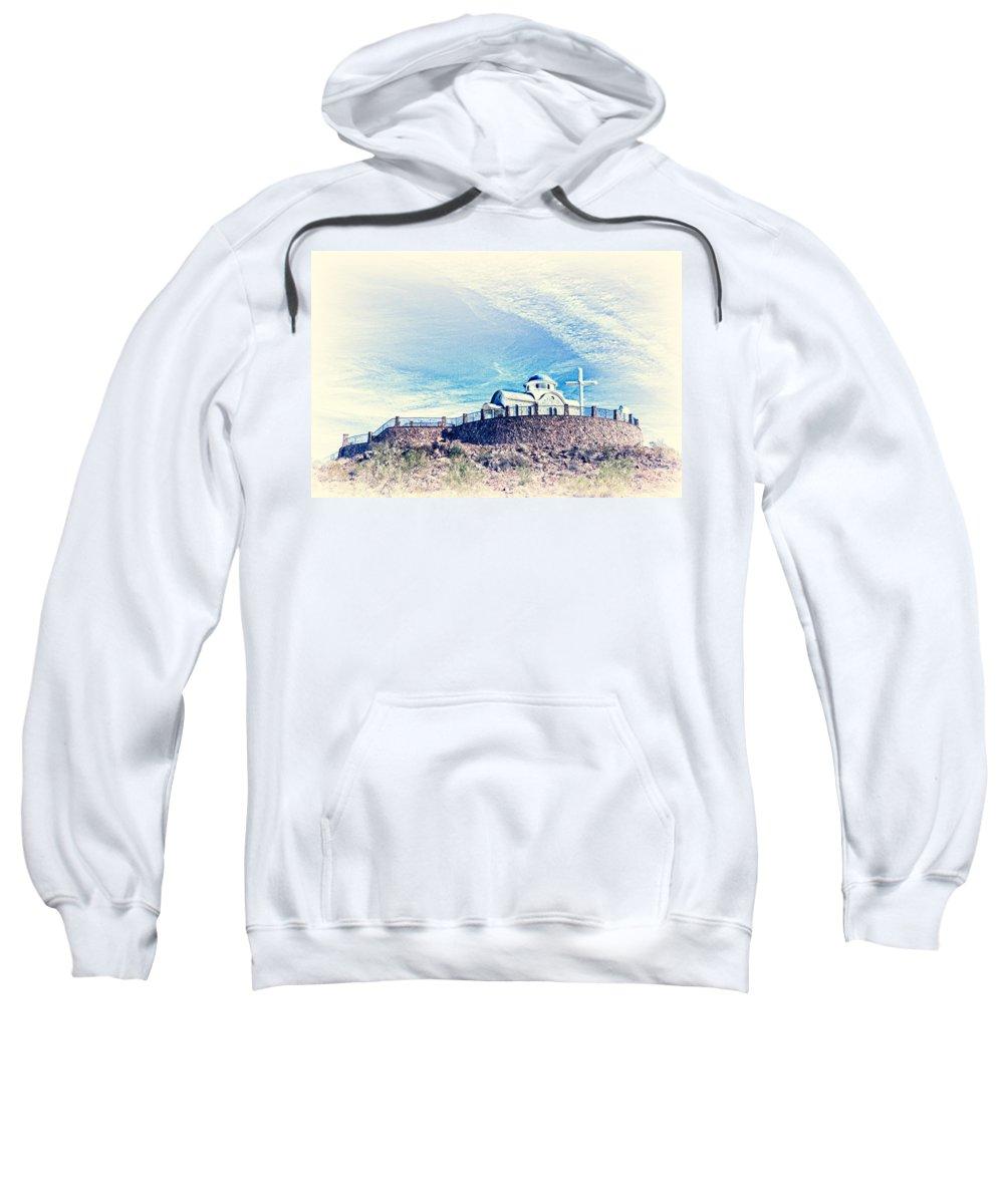 Florence Sweatshirt featuring the photograph St. Elijah Chapel IIi by Matt Suess