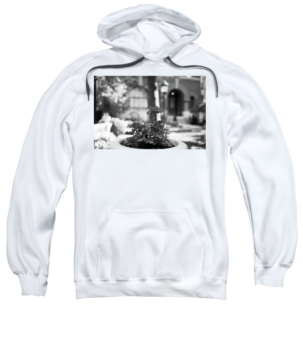 Contemporary Sweatshirt featuring the photograph St. James Court 5 Bw by Joshua Allen