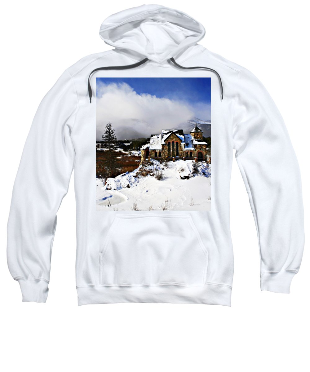 Church Sweatshirt featuring the photograph St. Malo Chapel by Marilyn Hunt