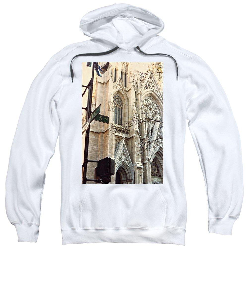Nyc Sweatshirt featuring the photograph St. Patrick's Cathedral by Daniele Zambardi