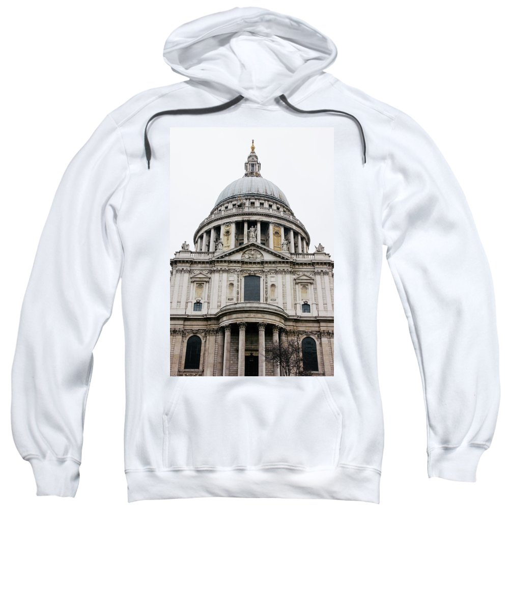 St Pauls Sweatshirt featuring the photograph St Pauls Cathedral Closeup by Pati Photography