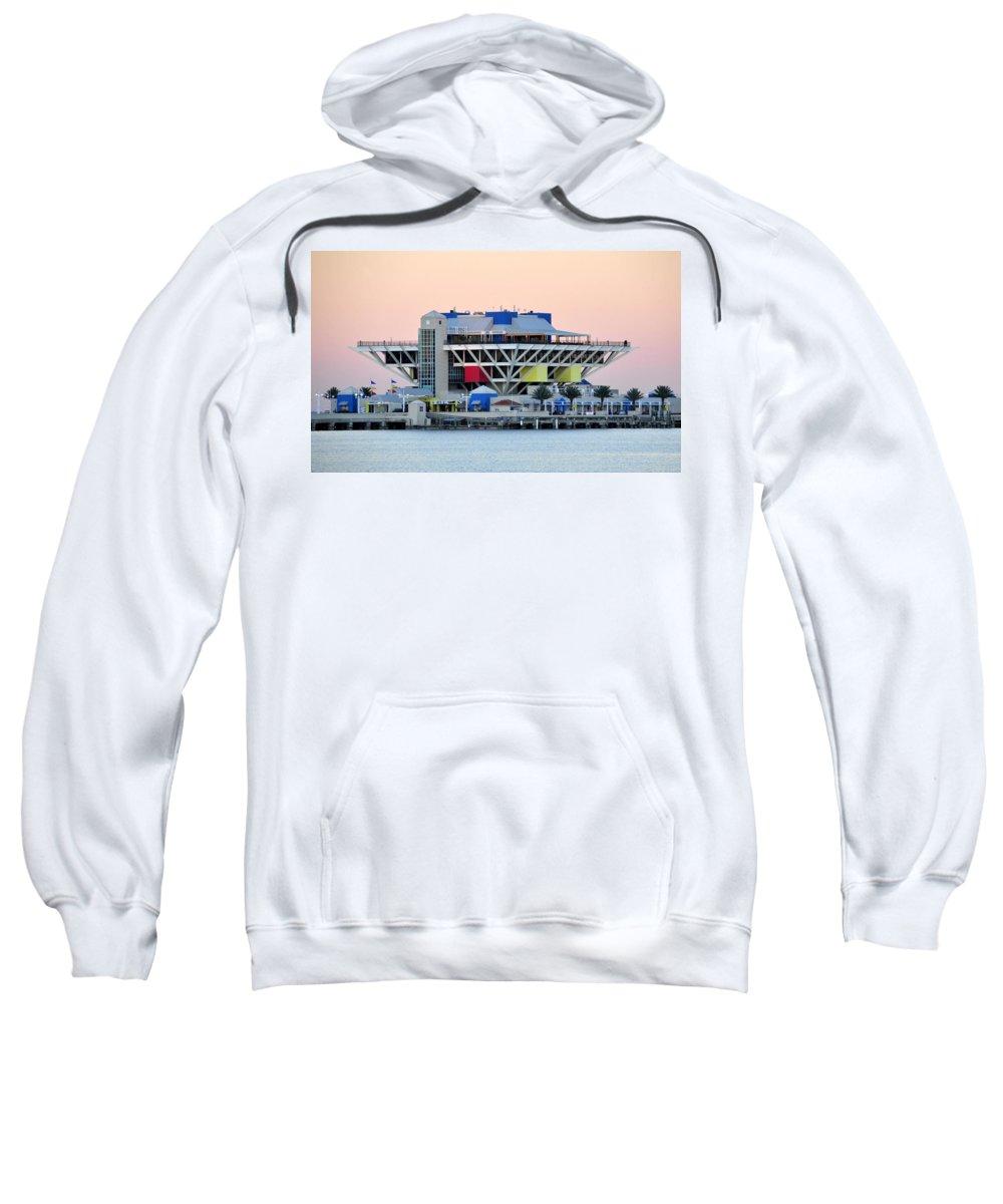 Pier Sweatshirt featuring the photograph St. Petersburg Pier by David Lee Thompson
