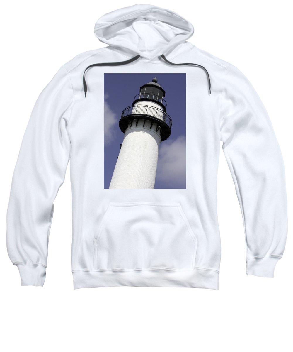 Georgia Sweatshirt featuring the photograph St Simons Island Lighthouse by Elizabeth Eldridge