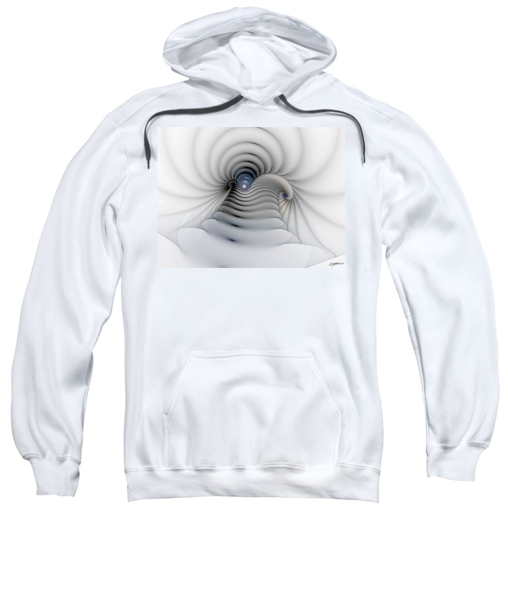 Abstract Sweatshirt featuring the digital art Stairway To Heaven by Casey Kotas