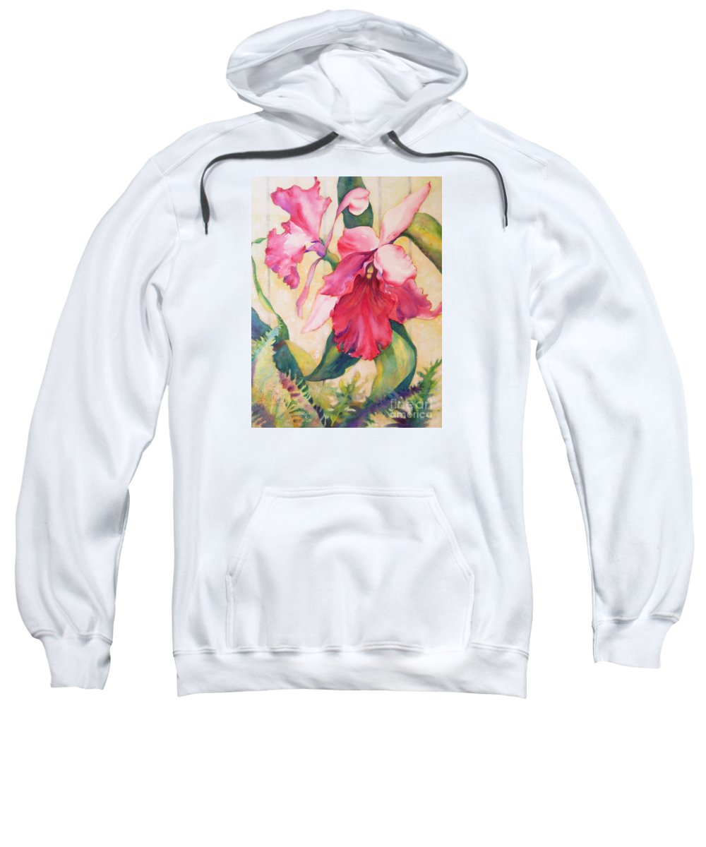 Top Artist Contemporary Art Sweatshirt featuring the painting Star Of The Show by Sharon Nelson-Bianco