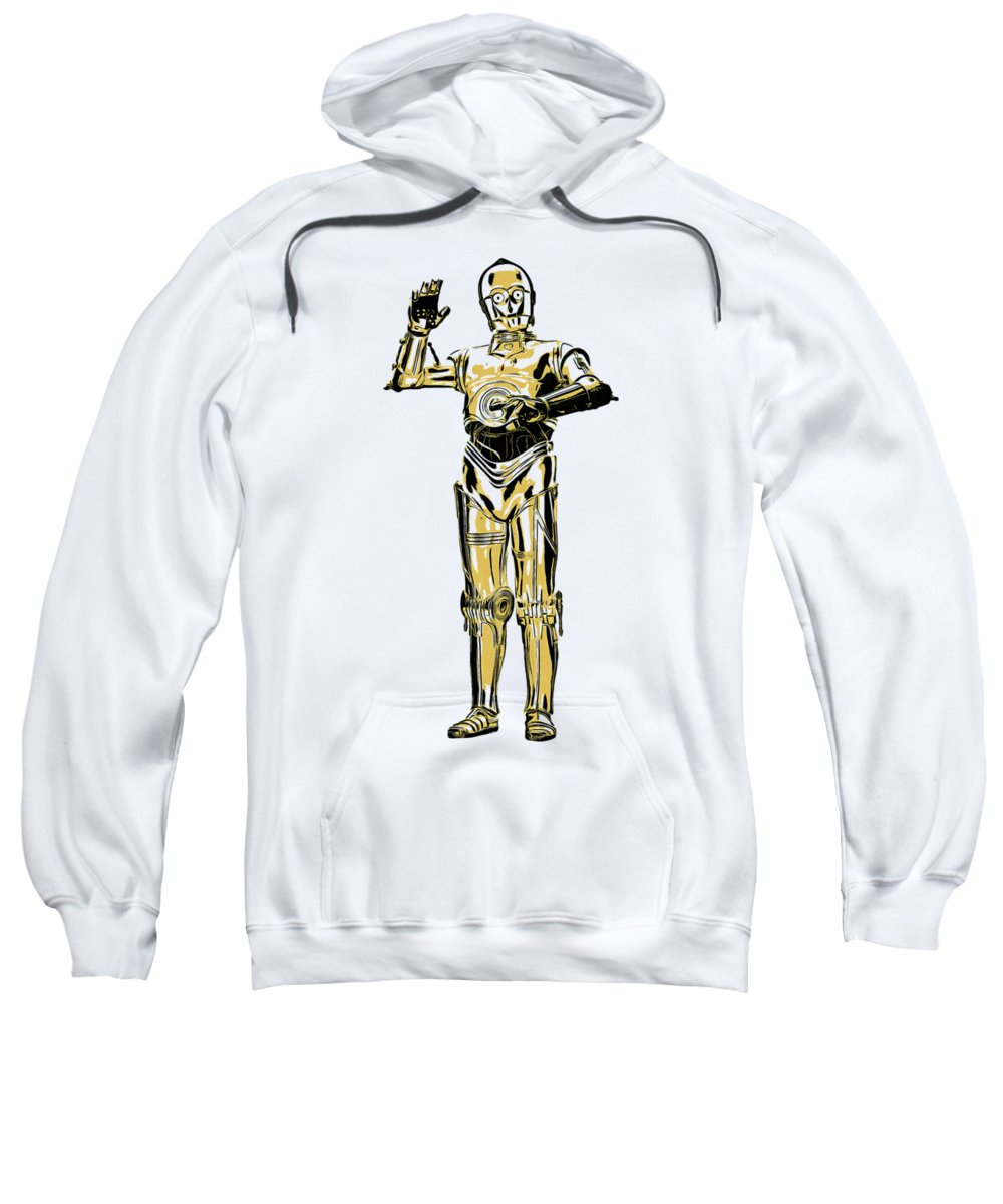 T-shirt Sweatshirt featuring the painting Star Wars C-3po Droid Tee by Edward Fielding