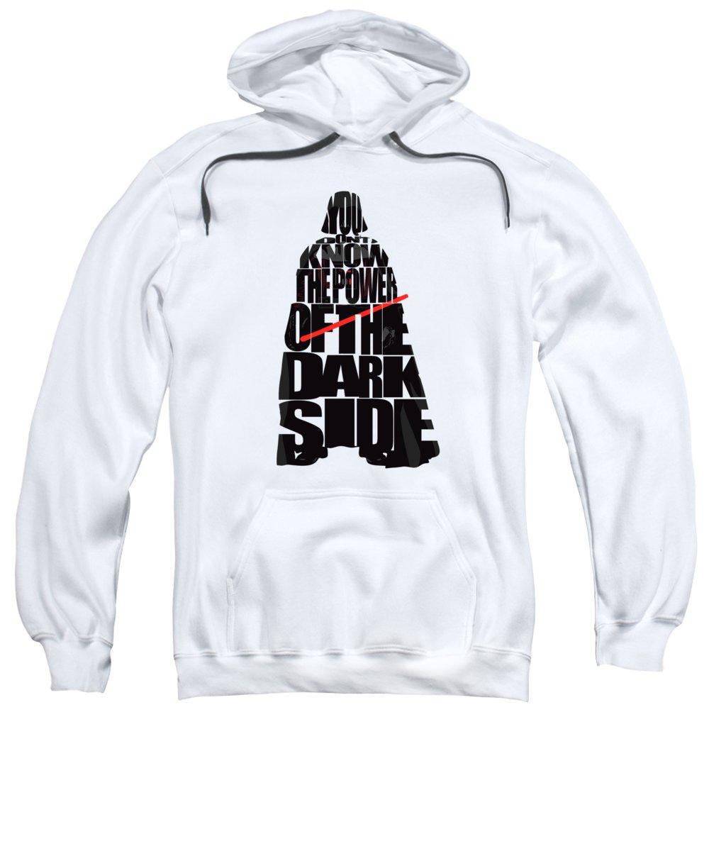 Darth Vader Sweatshirt featuring the digital art Star Wars Inspired Darth Vader Artwork by Inspirowl Design