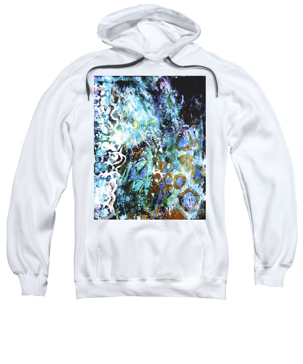 Abstract Sweatshirt featuring the painting Starry Contribution 1 by Nikki Dalton