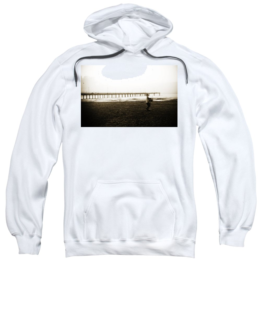 Fish Sweatshirt featuring the photograph Starting Early by Marilyn Hunt
