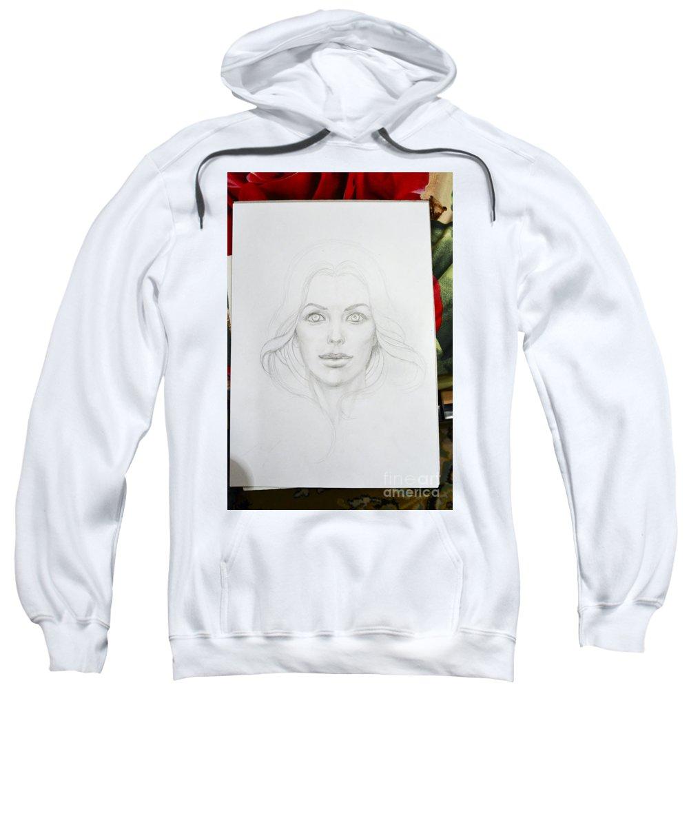 Coming Soon Sweatshirt featuring the drawing Starting by Irina Effa