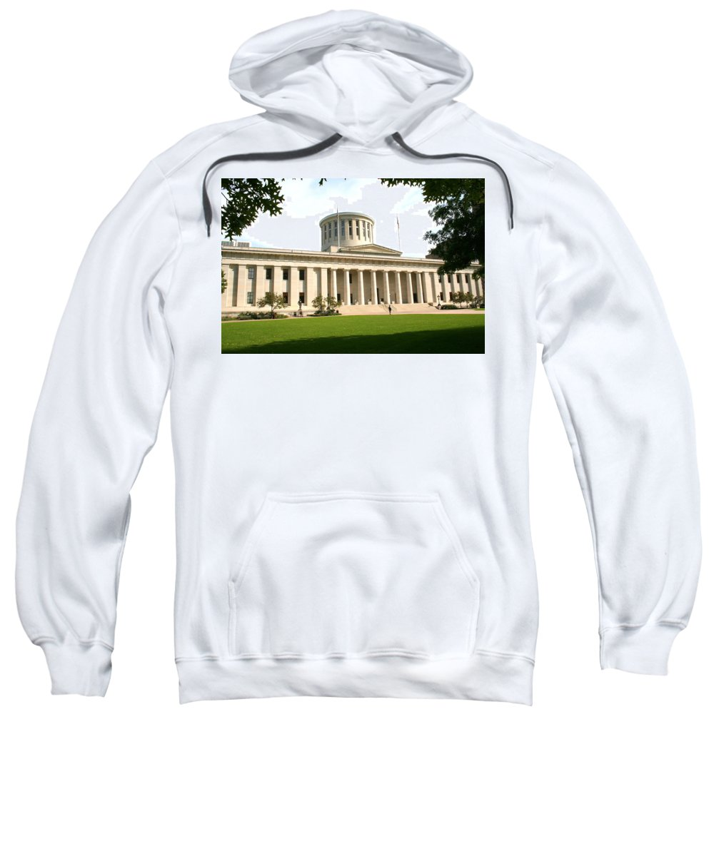 Ohio Sweatshirt featuring the photograph State Capitol Of Ohio by Laurel Talabere