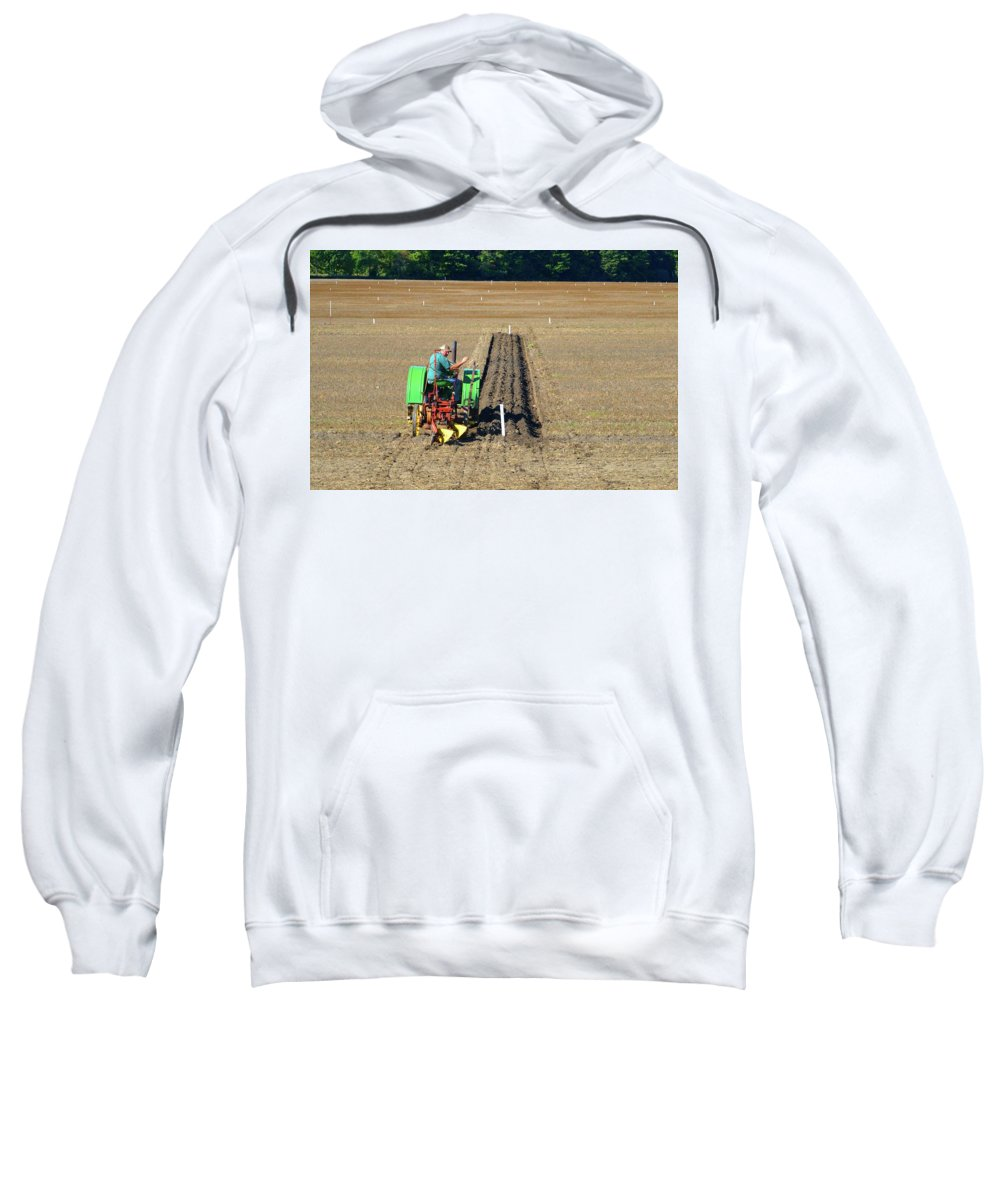 Farm Sweatshirt featuring the photograph Steel Wheels by Lyle Crump