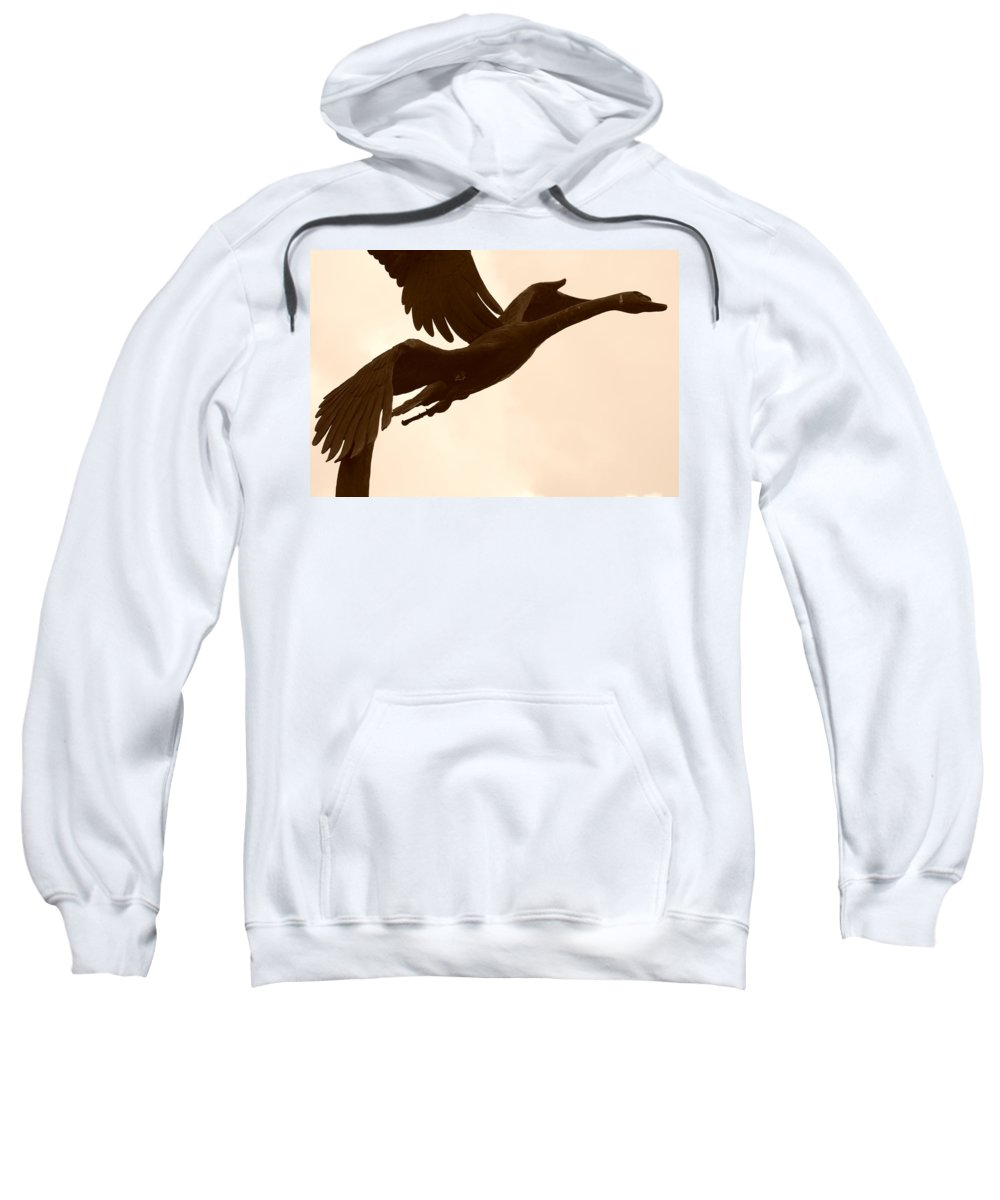 Sepia Sweatshirt featuring the photograph Stone Birds by Rob Hans