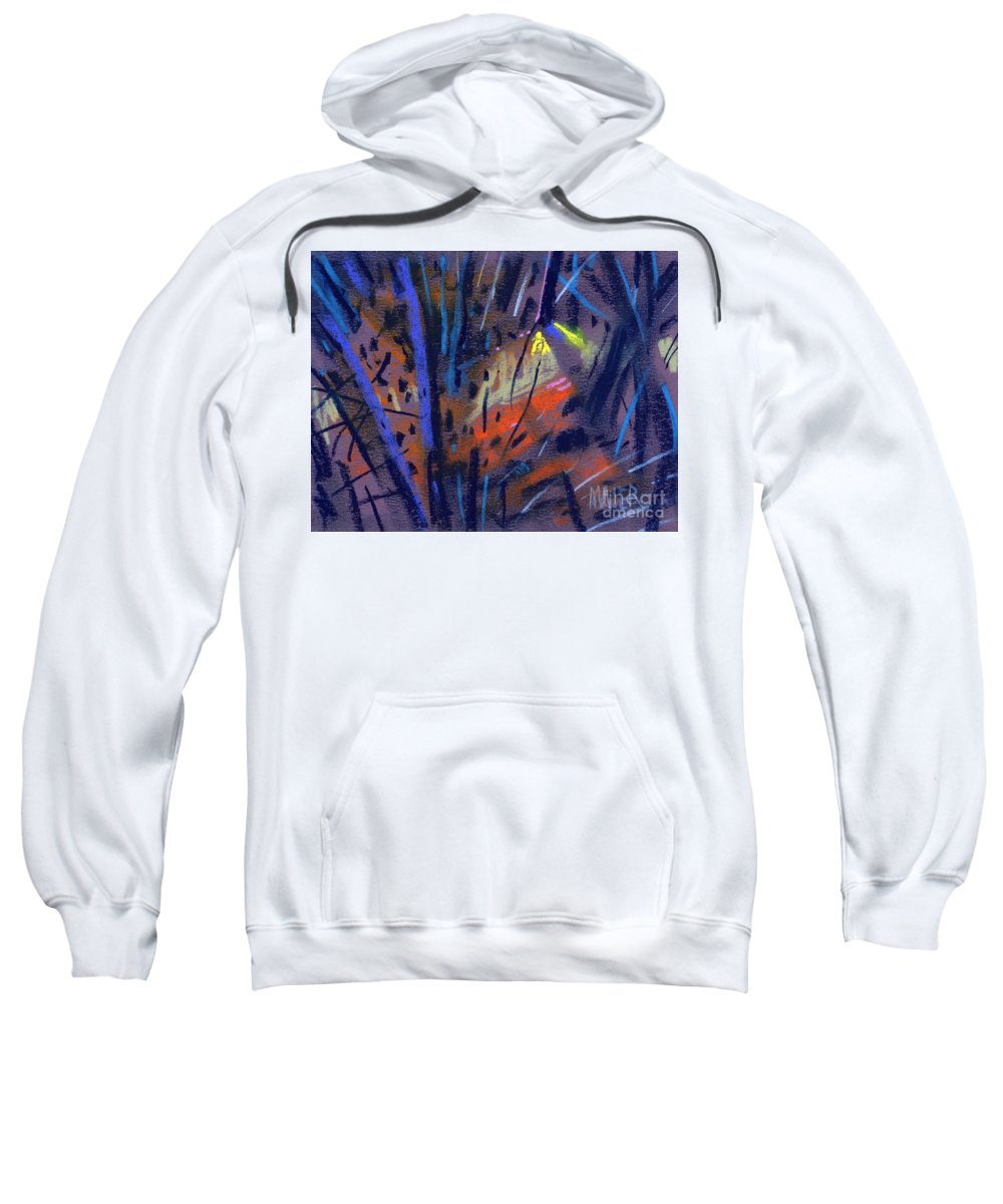 Abstract Sweatshirt featuring the drawing strange Lights by Donald Maier