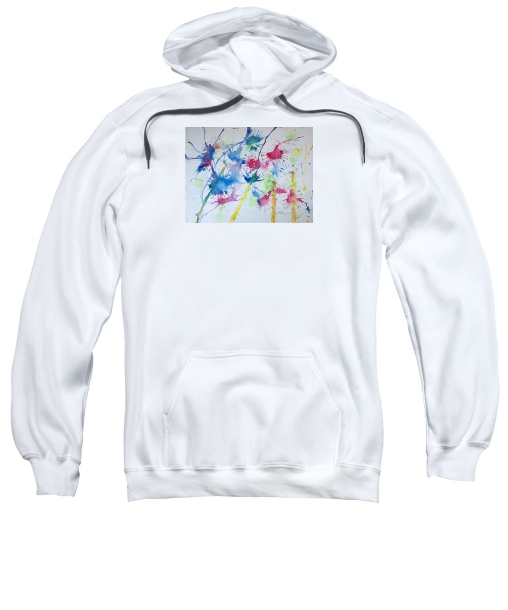Straw Blown Painting Sweatshirt featuring the painting Straw Blown by J R Seymour