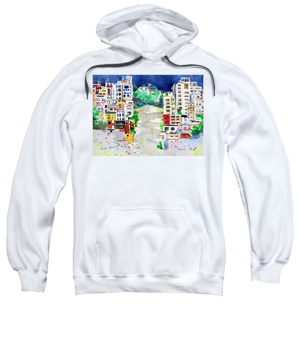 San Francisco Sweatshirt featuring the painting Streets Of San Francsico by Mindy Newman