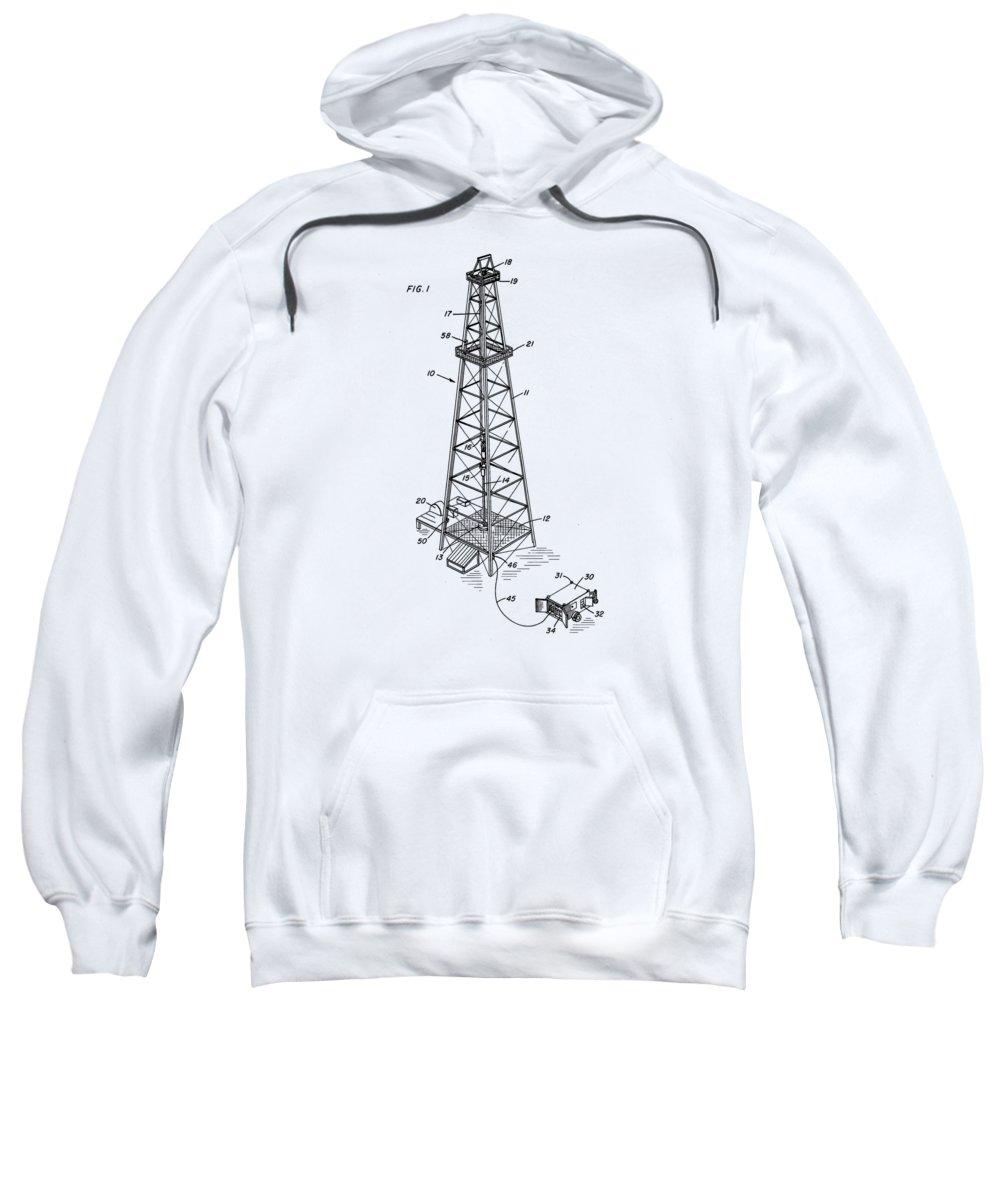 Oil Sweatshirt featuring the drawing Strike It Rich Tee by Edward Fielding