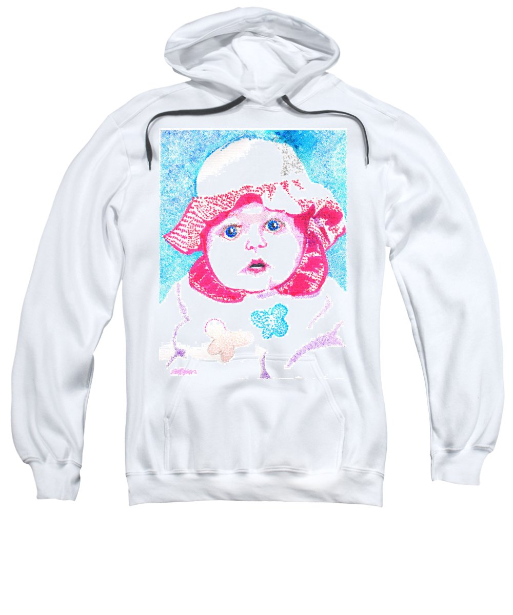 Baby Sweatshirt featuring the digital art Study In Blue And Pink by Seth Weaver