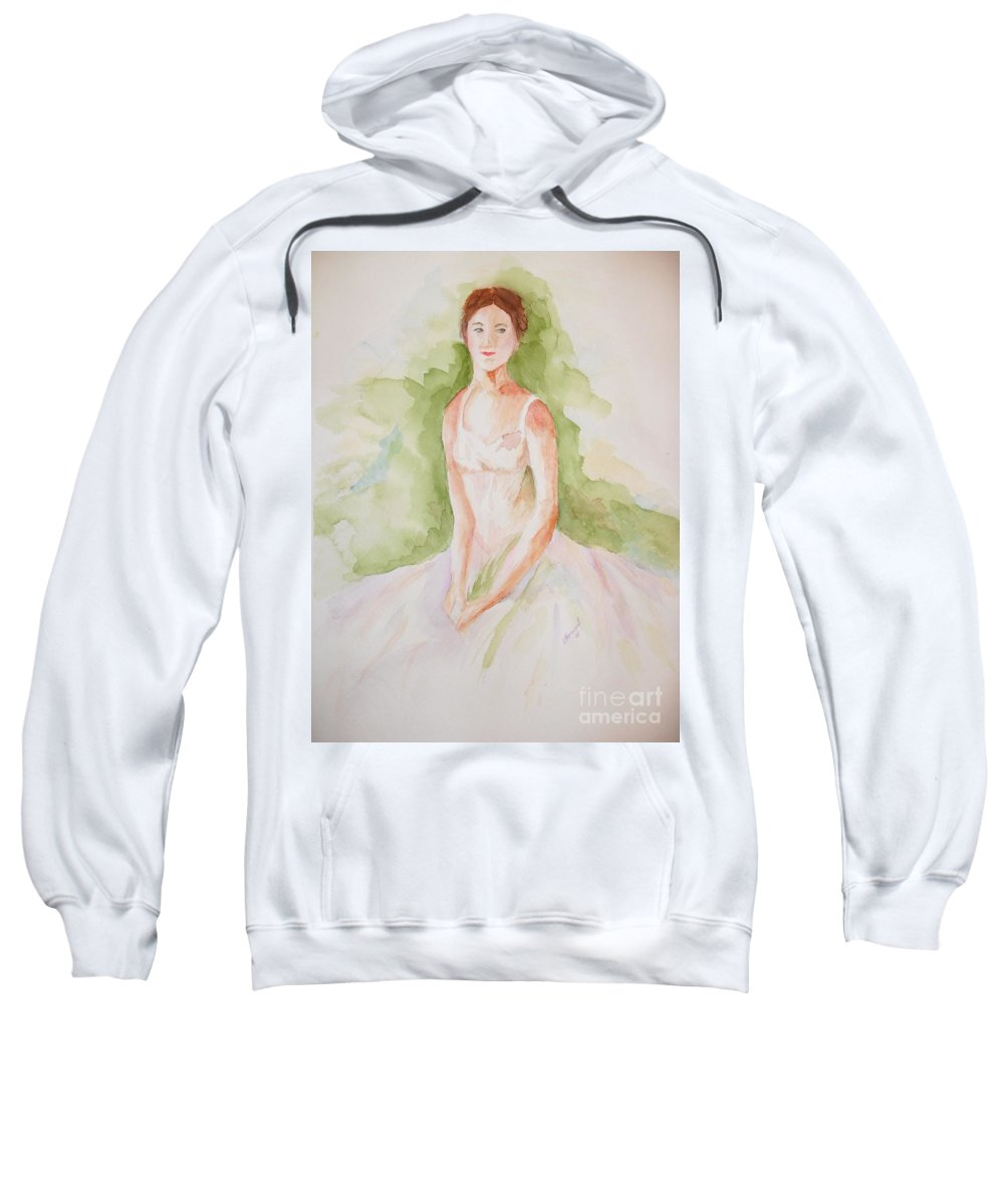 Ballerina Sweatshirt featuring the painting Study Of A Ballerina by Vicki Housel