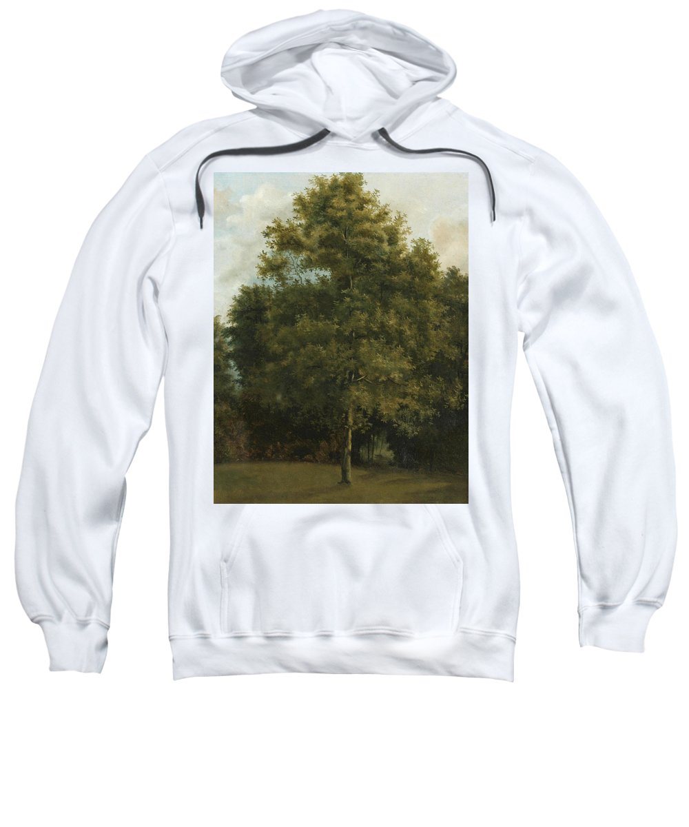 Attributed To Jules Coignet Sweatshirt featuring the painting Study Of A Tree by Attributed to Jules Coignet