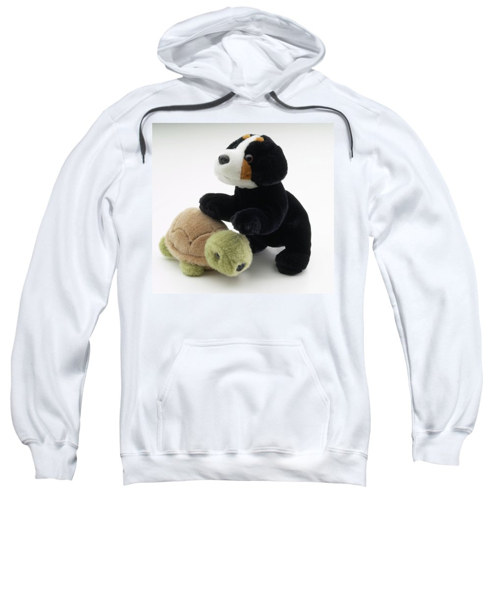 Stuffed Animal Sweatshirt featuring the photograph Stuffed Dog And Turtle by Stefania Levi