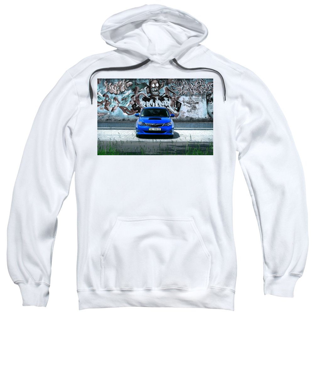 Subaru Sweatshirt featuring the digital art Subaru by Bert Mailer