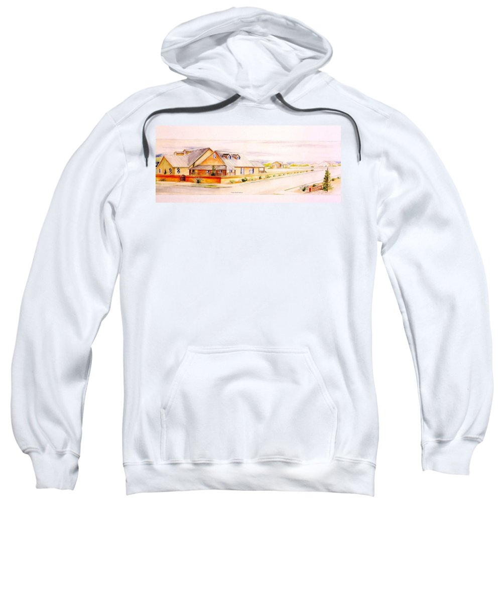 Architectural Renderings Sweatshirt featuring the painting Subdivison Rendering by Eric Schiabor