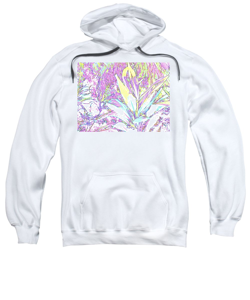 Abstract Sweatshirt featuring the photograph Subtle Leaf by Ian MacDonald