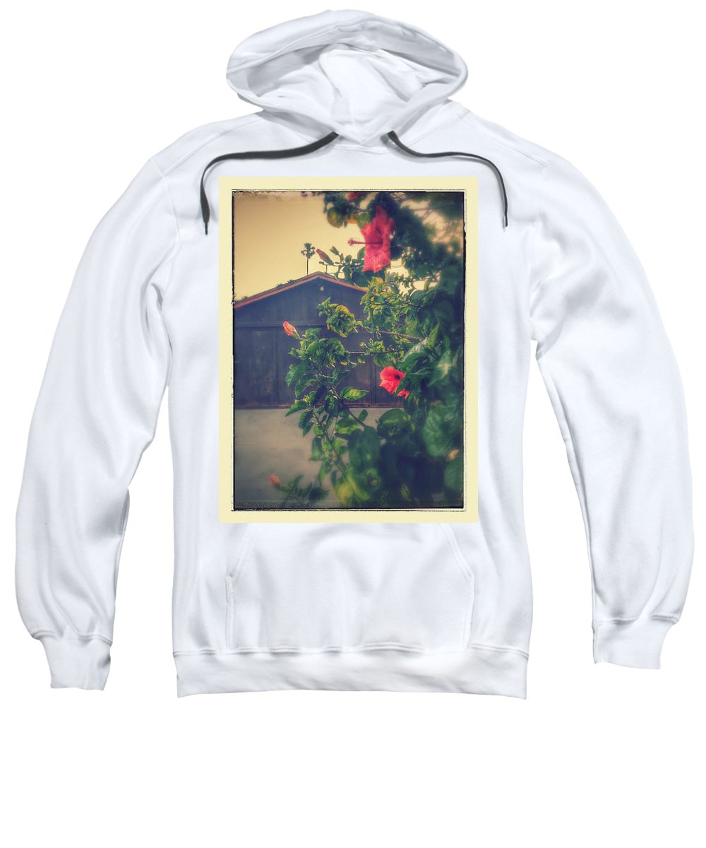 Sweatshirt featuring the photograph Suburbs Exotic Flowers by Lorie Stevens