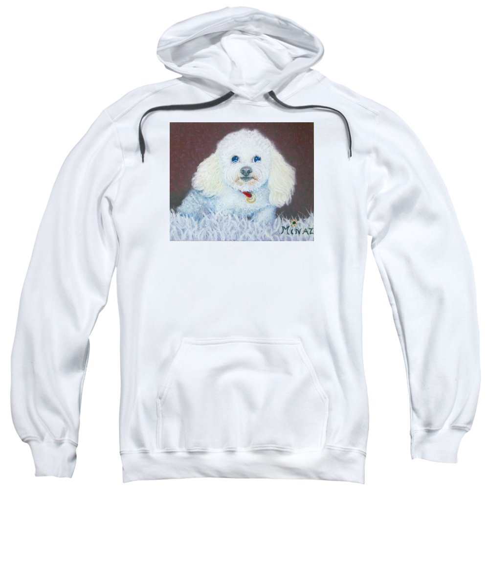 Dog Sweatshirt featuring the painting Such A Charm by Minaz Jantz