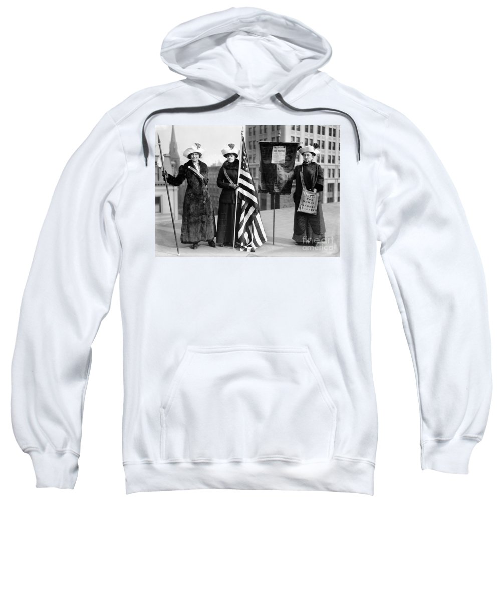1910 Sweatshirt featuring the photograph Suffragettes, C1910 by Granger