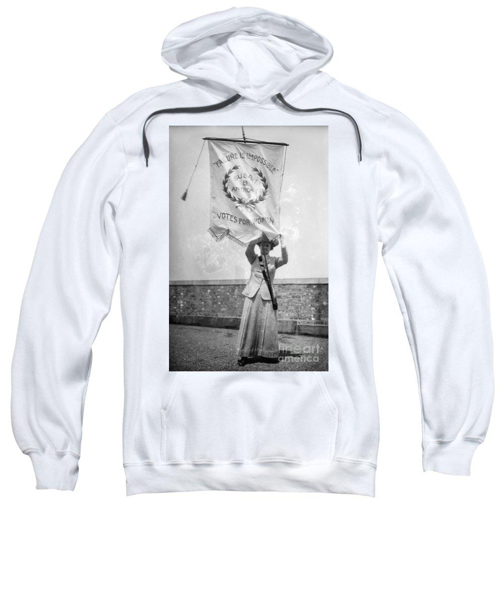 1912 Sweatshirt featuring the photograph Suffragist, C1912 by Granger