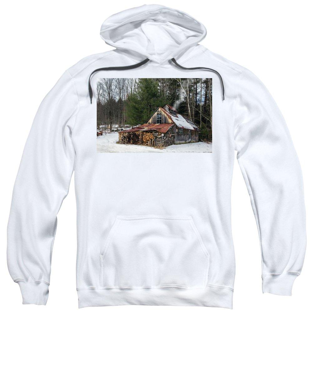 Sugar Sweatshirt featuring the photograph Sugar King's Smokehouse by Betty Denise