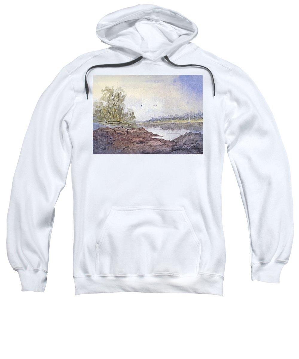 Landscape Sweatshirt featuring the painting Summer Breeze by Barry Jones