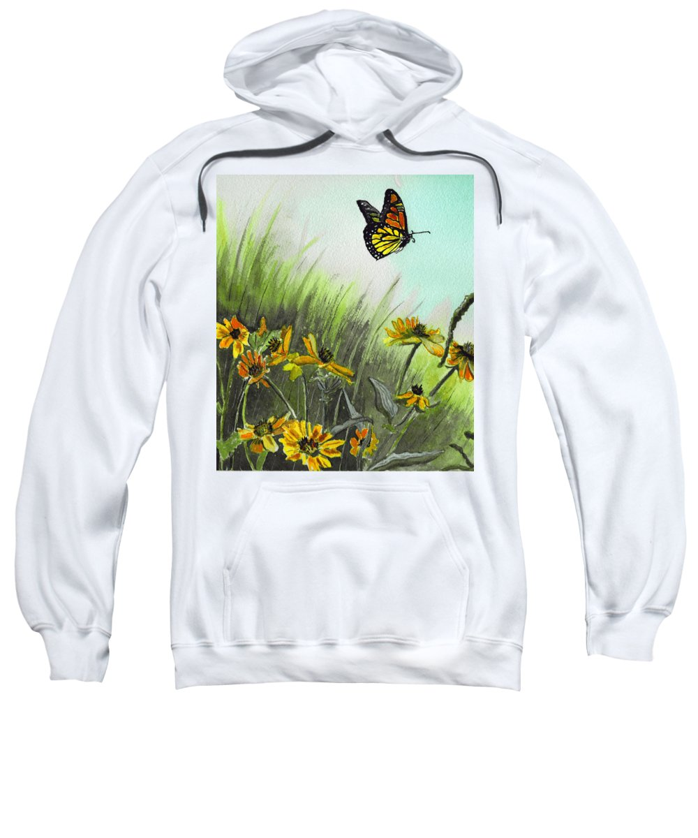 Landscape Sweatshirt featuring the painting Summer Flight by Brenda Owen