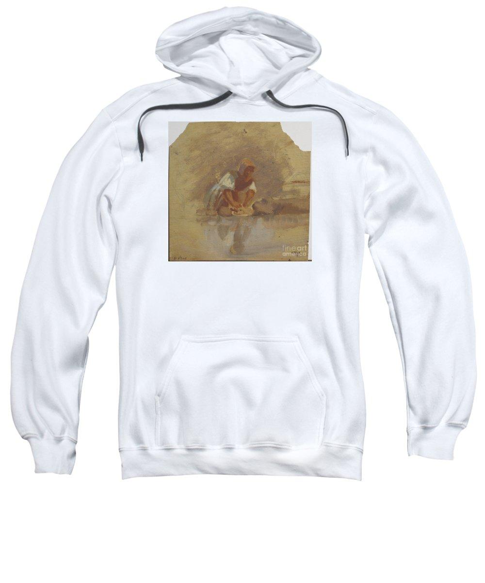 Summer Morning Ramon Mart� I Alsina Sweatshirt featuring the painting Summer Morning Ramon by MotionAge Designs