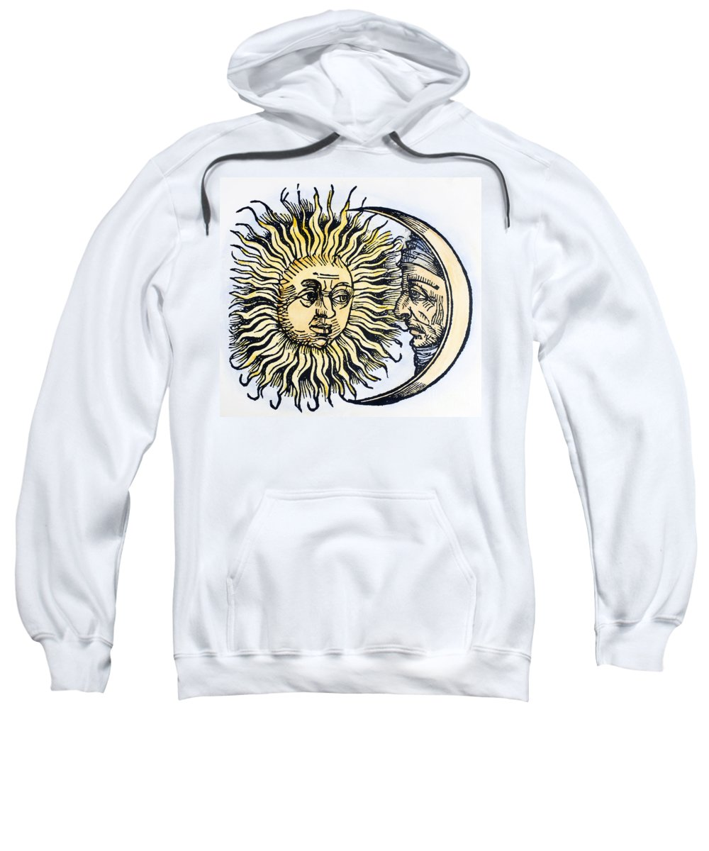 1493 Sweatshirt featuring the photograph Sun And Moon, 1493 by Granger