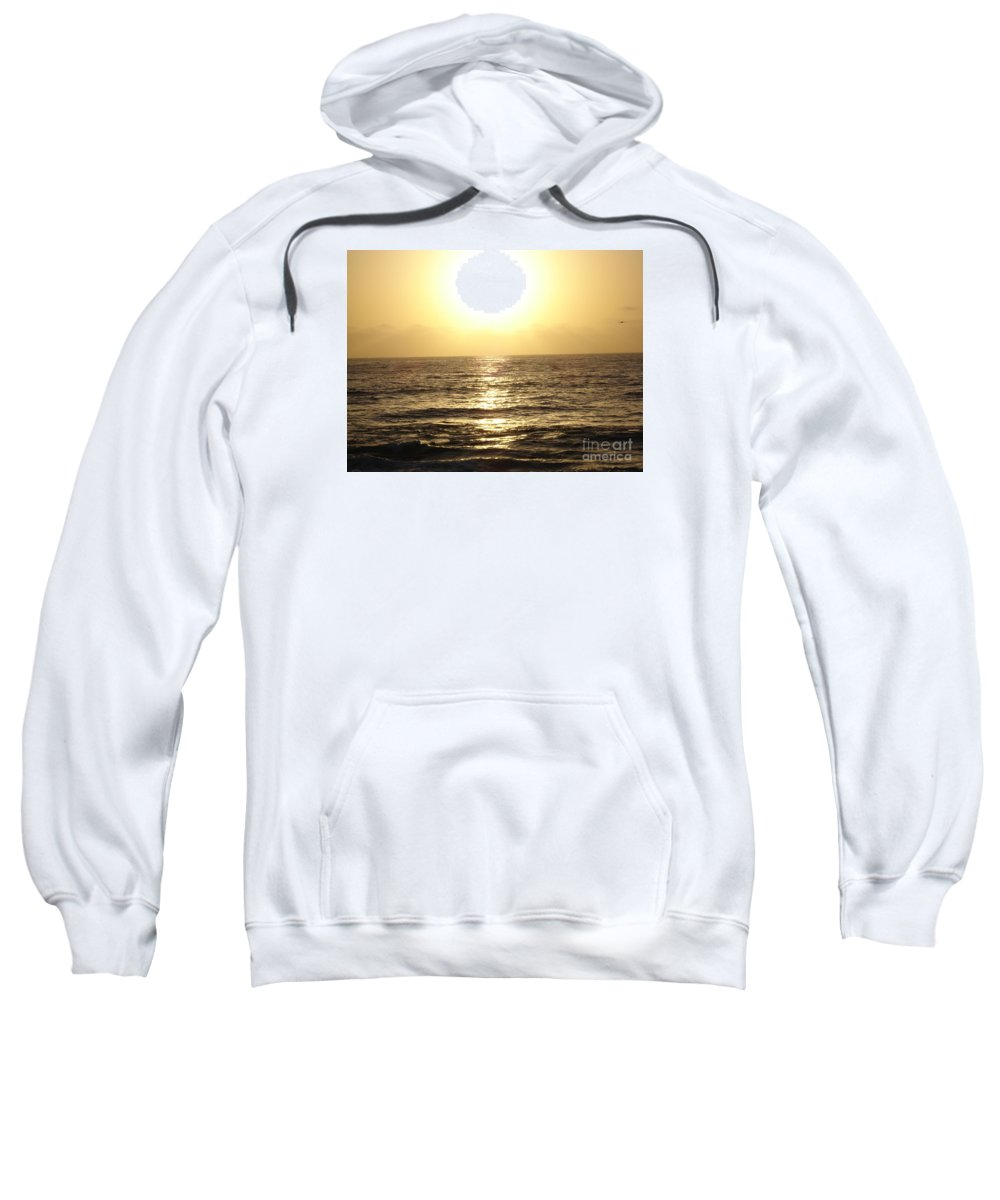 Ocean Sweatshirt featuring the photograph Sun At Sea by Madilyn Fox