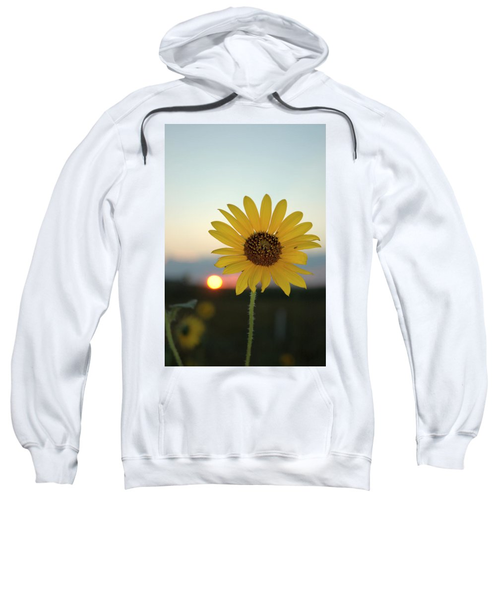 Sunset Sweatshirt featuring the photograph Sun Flower At Sunset by Jerry McElroy