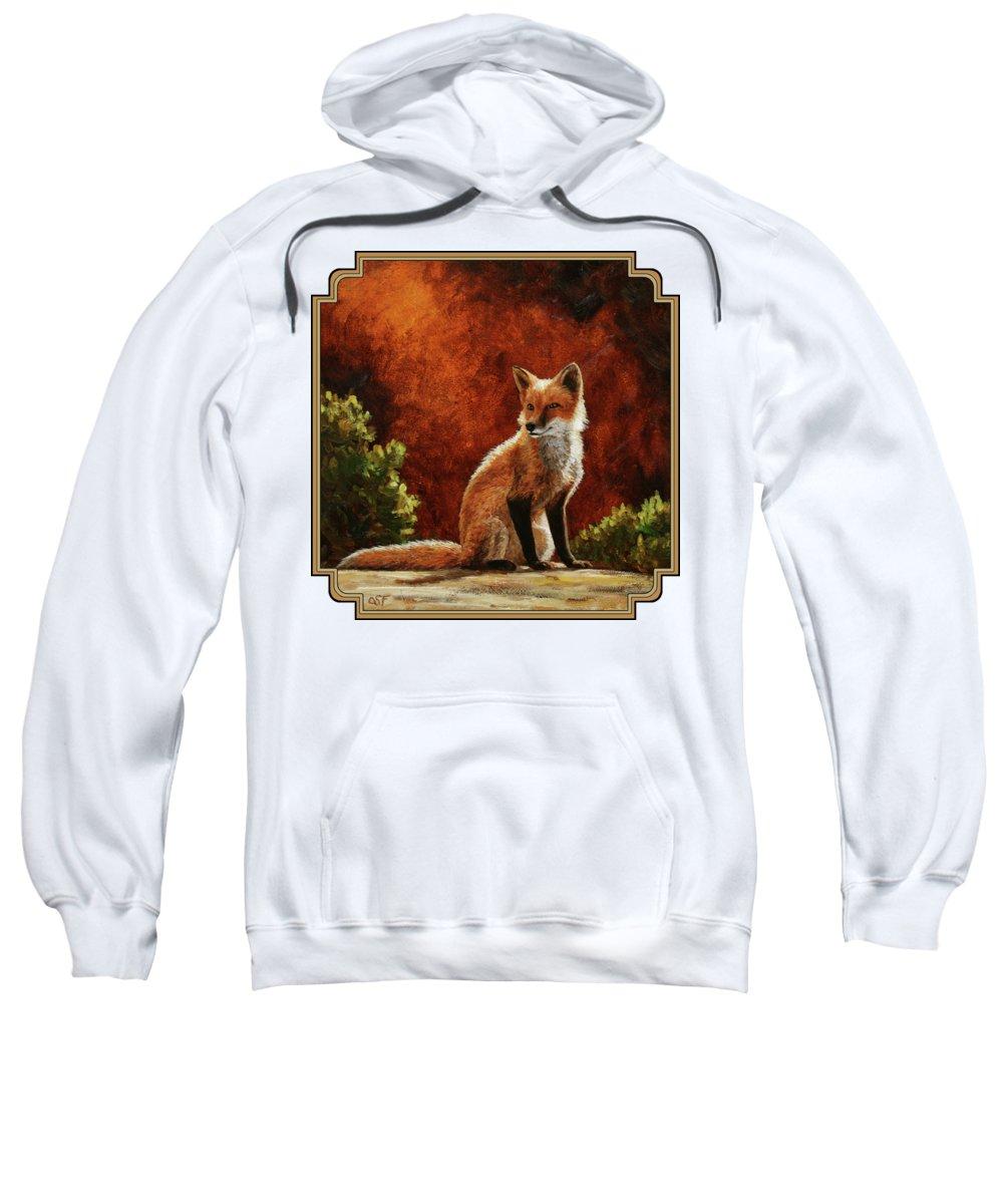 Red Fox Hooded Sweatshirts T-Shirts