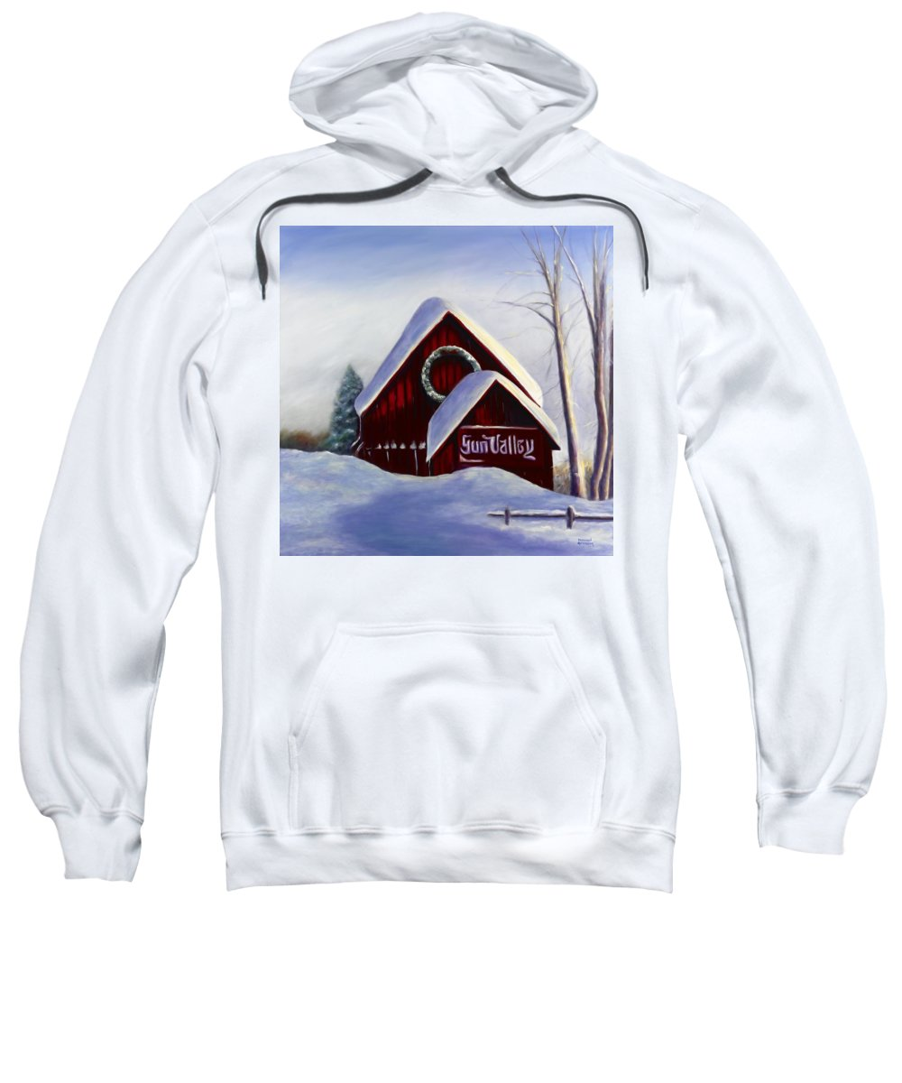 Landscape Sweatshirt featuring the painting Sun Valley 3 by Shannon Grissom