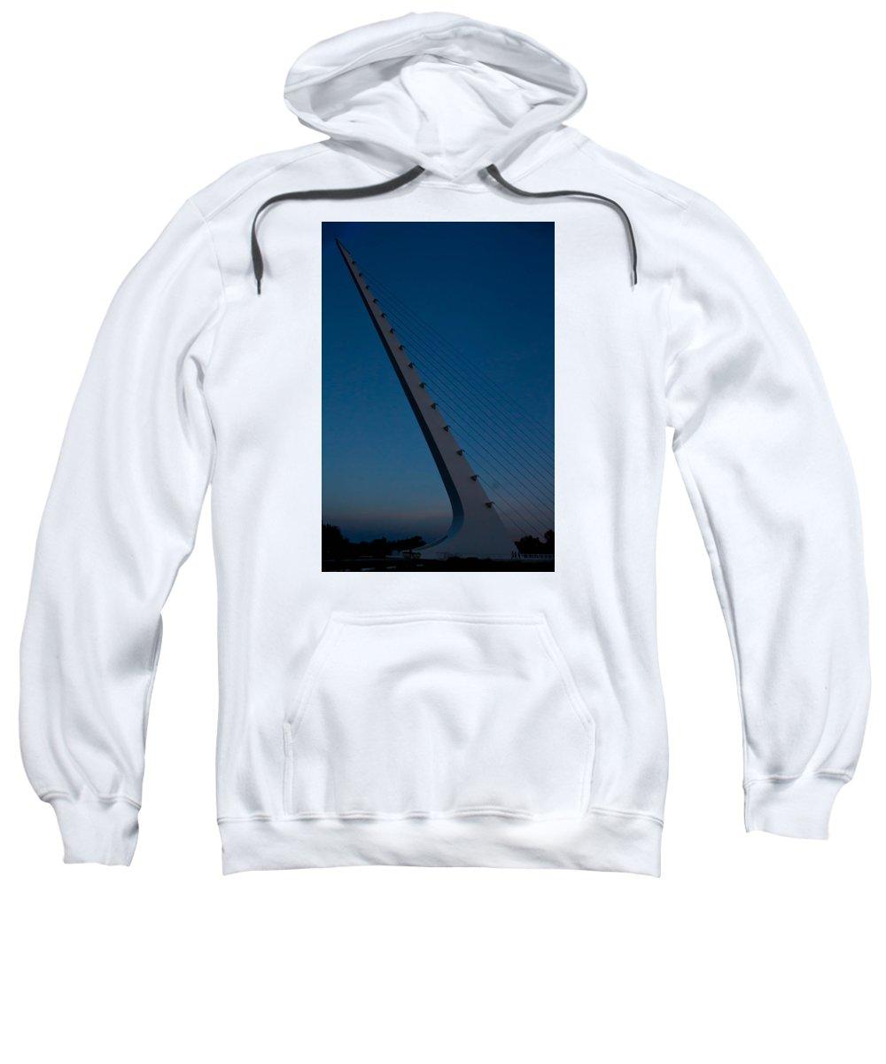 Sweatshirt featuring the photograph Sundial Bridge 2 by Reed Tim