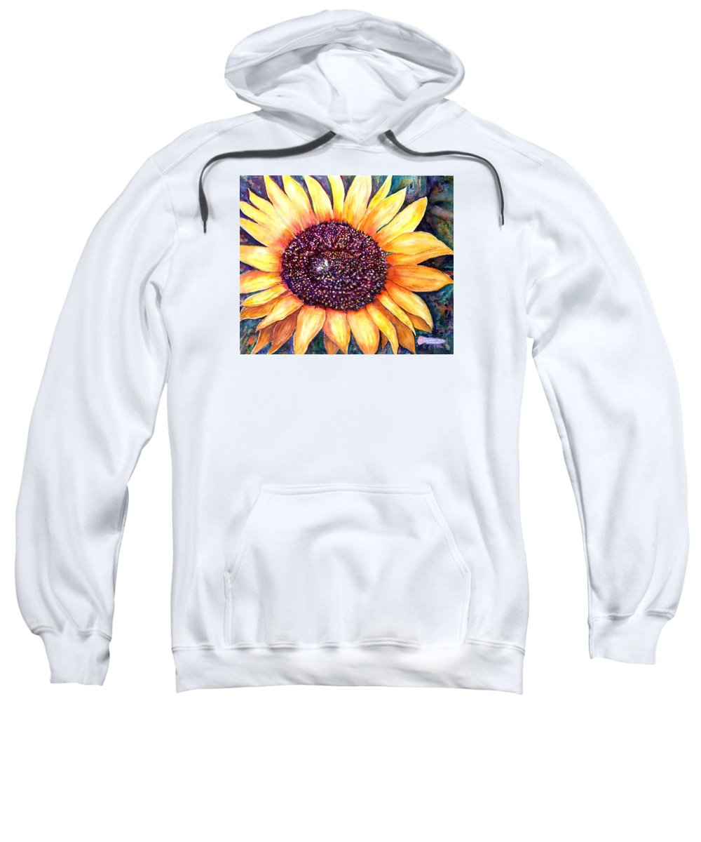 Sunflower Sweatshirt featuring the painting Sunflower Of Georgia by Norma Boeckler