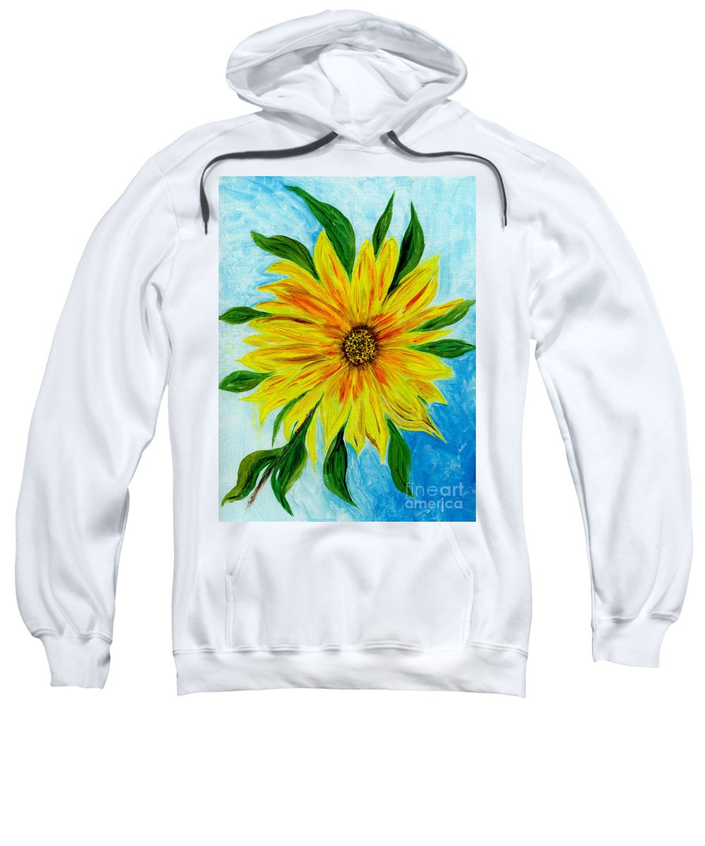 Sunflower Sweatshirt featuring the painting Sunflower Sunshine Of Your Love by Anne Gitto