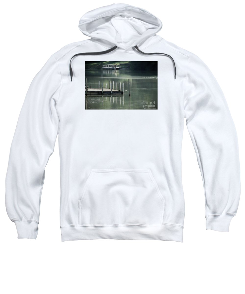 Dock Sweatshirt featuring the photograph Sunlit Dock by Todd A Blanchard