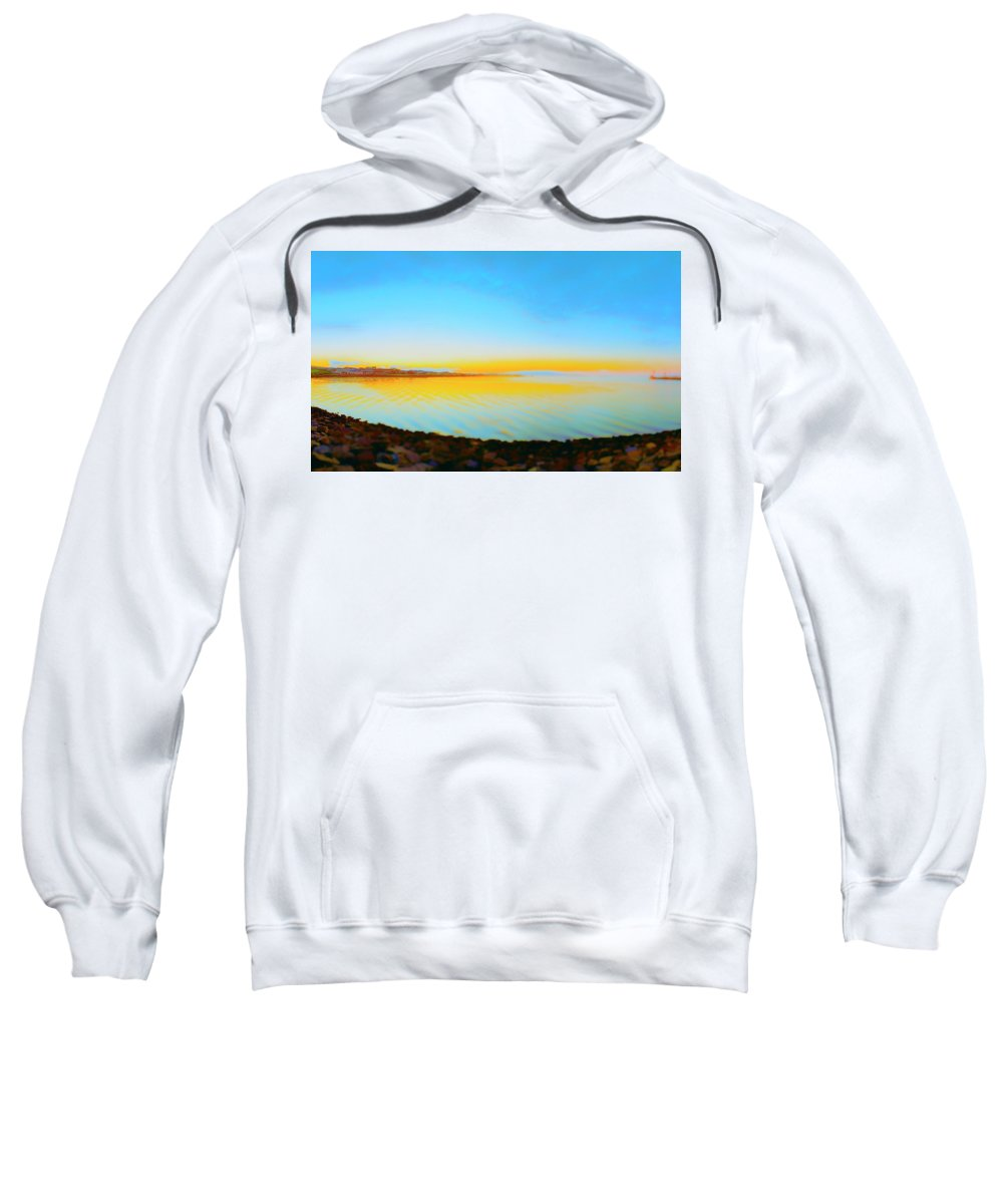 Railroad Sweatshirt featuring the photograph Sunny Eve by Jan W Faul