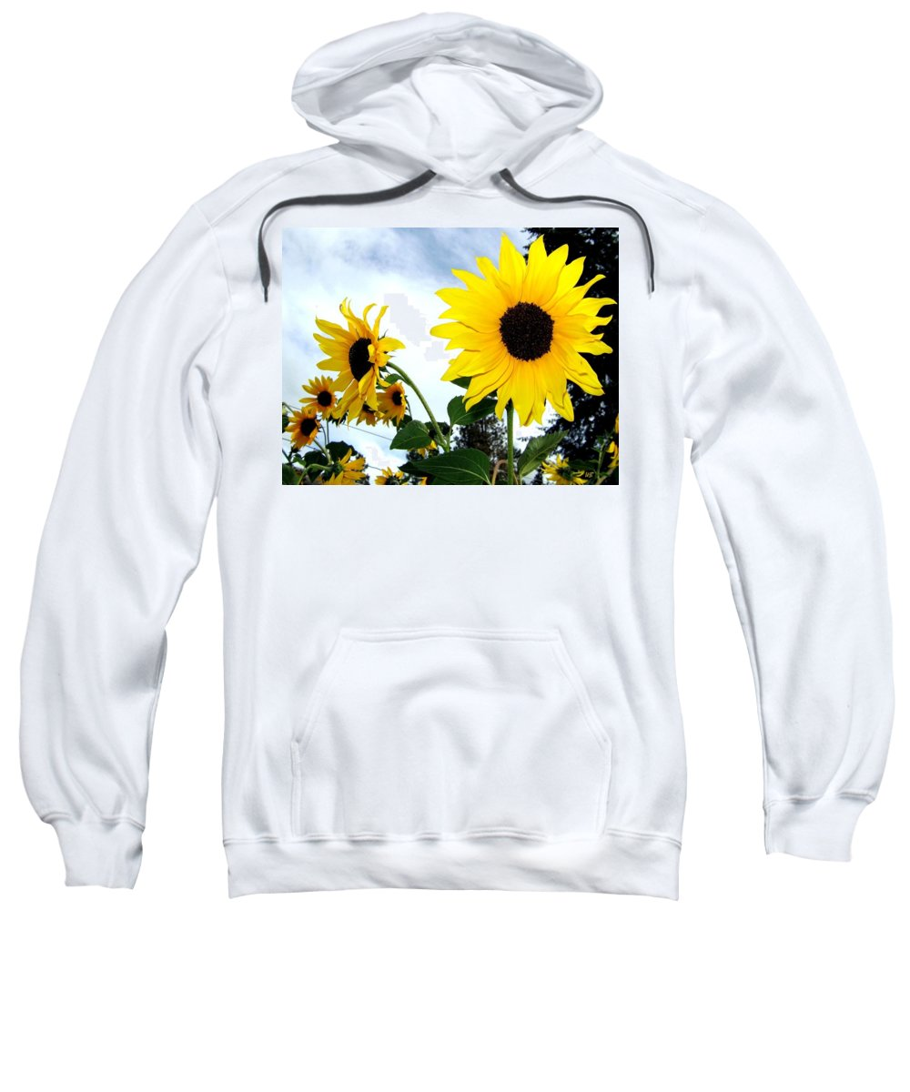 Sunflowers Sweatshirt featuring the photograph Sunny Slopes by Will Borden