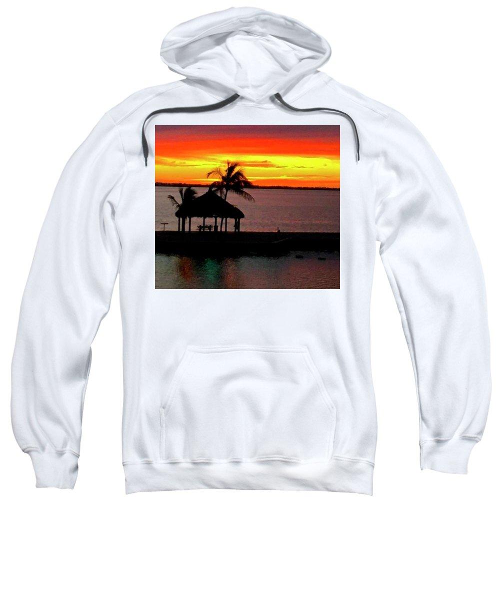 Sweatshirt featuring the photograph Sunrise At The Tiki Hut by Bill Jordan