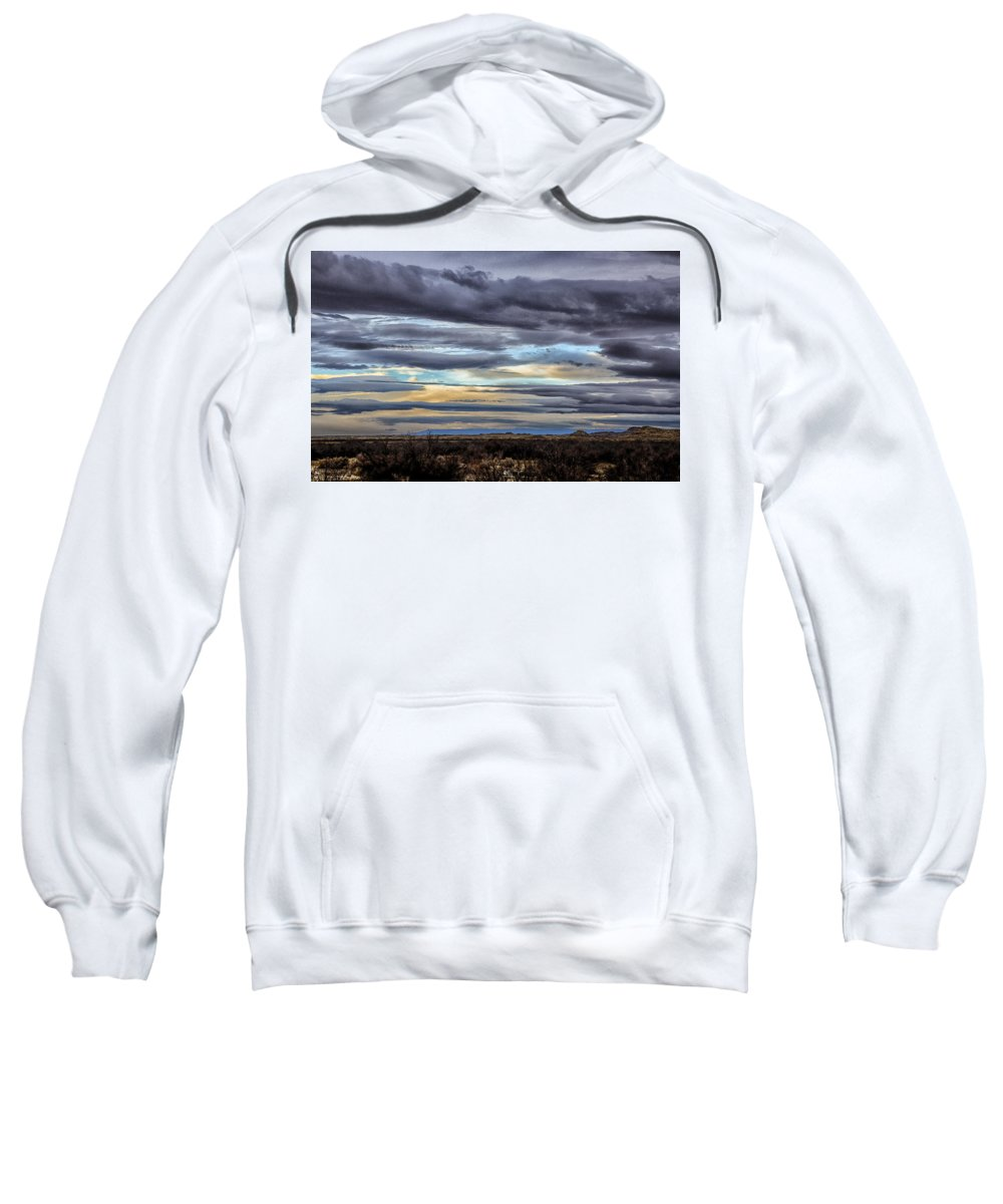 Fine Art Sweatshirt featuring the photograph Sunrise In The Western Sky by Darby Donaho