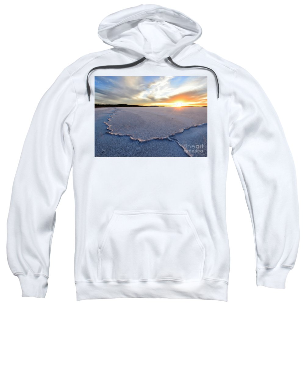 Sunset Sweatshirt featuring the photograph Sunrise Over Lake Gairdner, by Genevieve Vallee